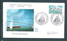 Enveloppe Premier Jour Avec N°1856 ( Dédicacée )  8/11/75 - Documents De La Poste