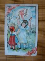Prägedruckkarte, Fröhliche Ostern, Ungelaufen, Aber Beschrieben - Ostern