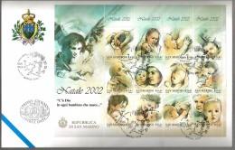 2002 NATALE  SAN MARINO FDC - FDC