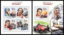 SIERRA LEONE 2015 - Formula 1, Cars, M/S + S/S. Official Issue. - Sierra Leone (1961-...)