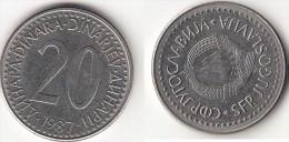Yugoslavia 20 Dinari 1987 Km#112- Used - Jugoslavia