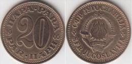 Yugoslavia 20 Para 1965 Km#45 - Used - Jugoslavia