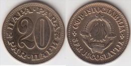 Yugoslavia 20 Para 1974 Km#45 - Used - Jugoslavia