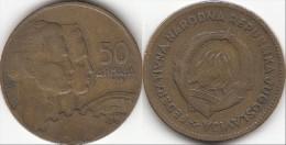 Yugoslavia 50 Dinari 1955 Km#35- Used - Jugoslavia