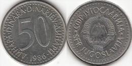Yugoslavia 50 Dinari 1986 Km#113- Used - Jugoslavia