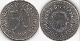 Yugoslavia 50 Dinari 1987 Km#113- Used - Yougoslavie