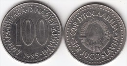 Yugoslavia 100 Dinari 1985 Km#114 - Used - Jugoslavia
