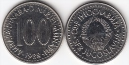 Yugoslavia 100 Dinari 1988 Km#114 - Used - Jugoslavia