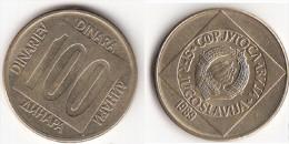 Yugoslavia 100 Dinari 1989 Km#134 - Used - Jugoslavia