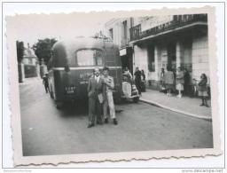 Photo 6x8cm - FONTAINEBLEAU - 1948 - VOITURE BERLIET - AUTOBUS - Automobili