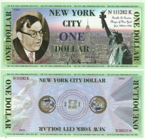 Fantasy Commemorative 1 Dollar New York Fiorello La Guardia - Estados Unidos