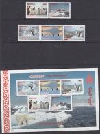 Greenpeace 1997 Mongolia 5v From M/s  Penguins  + M/s   ** Mnh (F3940) - Poolshepen & Ijsbrekers