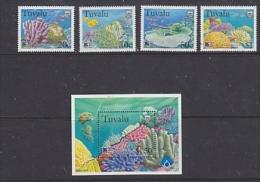 Tuvalu 1998 Greenpeace / Corals 4v + M/s  ** Mnh (23240) - Tuvalu