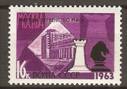 RUSSIE   /   URSS.    1963.    Y&T N° 2671 **.    ECHECS. - Scacchi