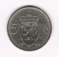 *** NOORWEGEN  5 KRONER 1964 - Norvège