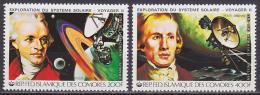 Série De 2 TP PA Neufs ** N° 175/176(Yvert) Comores 1979 - Espace, Exploration Du Système Solaire, Sonde Voyager II - Comoren (1975-...)
