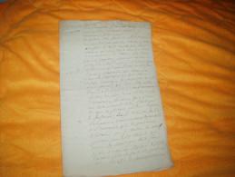 LETTRE ANCIENNE MANUSCRITE DE 1789. / A ETUDIER . CHATEAU GONTIER ?. / 2 PAGES ECRITES. - Manuscrits