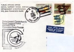 Polaire. Pli Deep Freeze. Cachet à Date 02/05/79. Detachement Christchurch, New Zealand. - Navires & Brise-glace