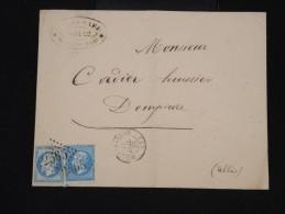 FRANCE -Enveloppe De Moulins Pour Dompierre En 1865 Aff. N° 22 - à Voir - Lot P8484 - 1849-1876: Période Classique