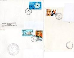Polaire BAT, Lot De 4 Plis, Bases Rothera, Halley Et Signy Island Avec Cachet Du RSS Bransfield. - Bases Antarctiques