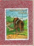REP.  DU  CONGO  --  MAMMOUTH  --  CACHET  DOUBLE  DE  POINTE  NOIRE     -- **  120  F. ** --  POSTE  1998  --  BEG - Congo - Brazzaville