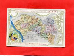 DONZERE    1910  PUBLICITE CHROMO CHOCOLATERIE  AIGUEBELLE COLONIE FRANCAISE GUINEE     CIRC OUI EDIT - Donzere