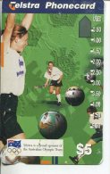"""(1 Phonecard) - Australia Used """"multi-hole"""" Postcard - Olympic Sport - Australia"""
