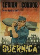 *JK371 SPAIN ESPA�A POSTER 20x29 cm. CIVIL WAR GERMANY. LEGION CONDOR. GUERNICA