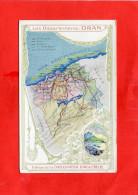 DONZERE    1910  PUBLICITE CHROMO CHOCOLATERIE  AIGUEBELLE COLONIE FRANCAISE ORAN ALGERIE   CIRC OUI EDIT - Donzere