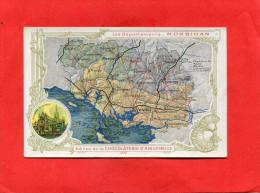 DONZERE    1910  PUBLICITE CHROMO CHOCOLATERIE  AIGUEBELLE DEPT MORBIHAN VANNES PONTIVY PLOERMEL LORIENT   CIRC OUI EDIT - Donzere