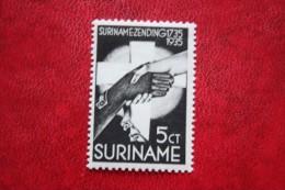 Zendingszegel  5 + 2 1/2 Ct NVPH Nr: 155 1935  MH / Ongebruikt SURINAME / SURINAM - Surinam ... - 1975