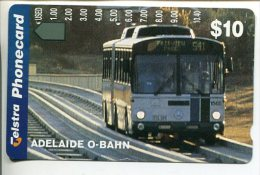 "(2 Phonecard) - Australia Used ""multi-hole"" Postcard - Adelaide O-Bahn Bus - Australie"