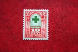 Groene Kruiszegel 10 + 3 Ct NVPH Nr: 129 1927 MH / Ongebruikt SURINAME / SURINAM - Surinam ... - 1975