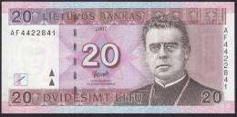 Lithuania 20 Litu 2007 P69  UNC - Lituanie