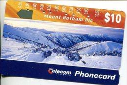 """(2 Phonecard) - Australia Used """"multi-hole"""" Postcard - Mt Hotham - Australie"""