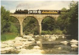 Dépt 07 - ARLEBOSC - Viaduc D´Arlebosc - Locomotive 414 - Ligne Tournon - Lamastre - Train à Vapeur - CPM - France