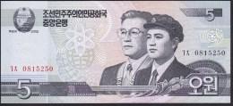 North Korea 5 Won 2002(2009) P58 UNC - Corée Du Nord