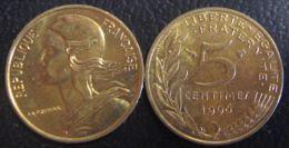 1996 France 5 centimos  UNC  #k5.1.3