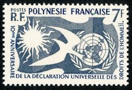 POLYNESIE 1958 - Yv. 12 ** TB  Cote= 12,00 EUR - Déclaration Des Droits De L'Homme ..Réf.POL22278 - Nuovi