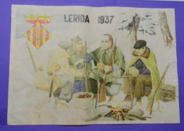 JK570 SPAIN ESPA�A CIVIL WAR. 42x29cm. NATIONAL ARMY. SOLDIERS. LERIDA 1937.