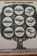 # ADVERTISING PUBBLICITA'TUTTE DELLO STESSO CEPPO - VOLKSWAGEN  -- 1974 - OTTIMO - Werbung