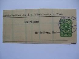 AUSTRIA 1920`S NEWSPAPER WRAPPER WIEN TO HEIDELBERG - 1918-1945 1st Republic