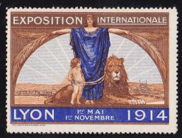 France Vignettes - Lyon Expo 1914 - B/TB - Commemorative Labels