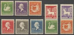 DENMARK - 1935 Fairy Tales. Scott 246-251. Mint Hinged * - Unused Stamps
