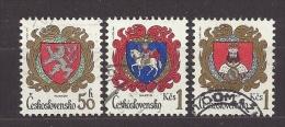 Czechoslovakia  Tschechoslowakei  1984 Gest.  Mi 2754, 2756, 2757 Sc  2500, 2501, 2502 City Arms . Städtewappen. - Czechoslovakia