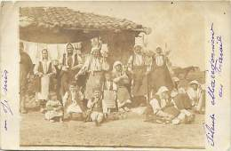 - Ref -H120 - Macedoine - Carte Photo Fileuse Macedonienne Au Travail - Fileuses - - Macédoine