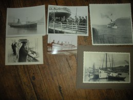 6 BELLES PHOTOS DONT BATEAU-H�PITAL L'ASIE EN RADE DE TOULON ET A BORD DU CAL�DONIEN D�PART DE MARSEILLE 1953