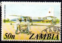ZAMBIA 1975 Flying Doctor Service  - 50n Multicoured  FU - Zambie (1965-...)