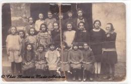 UNE CLASSE DE FILLES - CARTE PHOTO - Groupes D'enfants & Familles