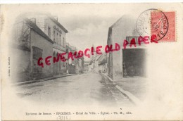 21 -  EPOISSES - HOTEL DE VILLE  EGLISE - LAVALLEE - France